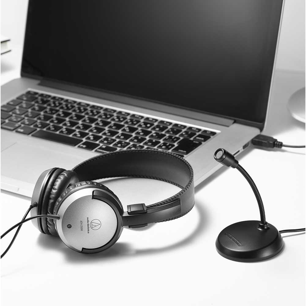WEB会議や動画配信に便利!audio-technicaからヘッドホンとUSBマイクがセットになった[AT9933USB PACK]が発売!