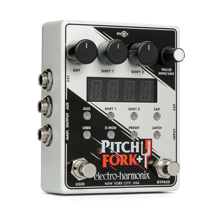 ELECTRO-HARMONIX Pitch Fork+ Polyphonic Pitch Shifter Harmony Pedal ピッチシフター ギターエフェクター