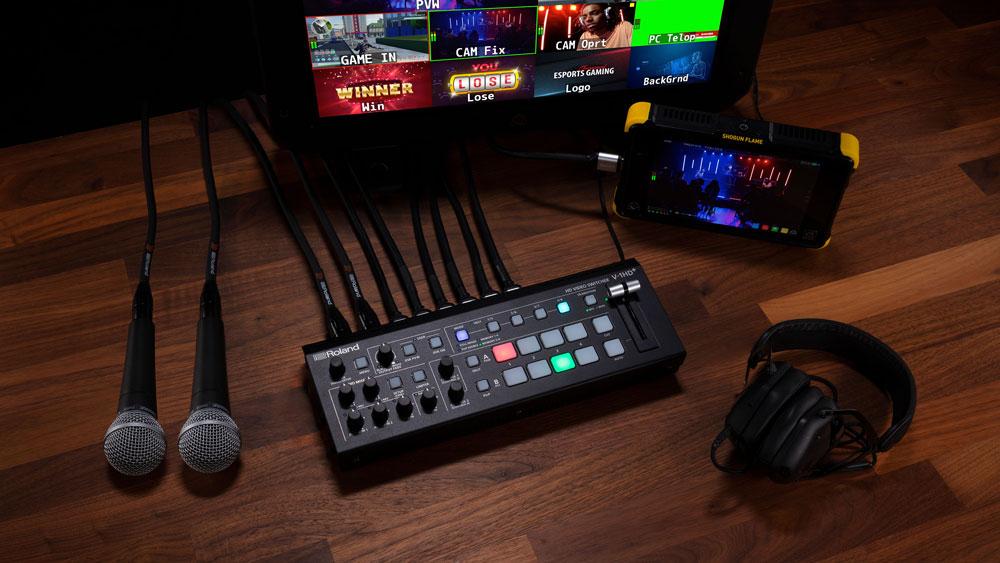 Rolandからプロレベルのビデオスイッチングとオーディオミキシングに対応するライブ配信にも最適なビデオスイッチャー「V-1HD+」が登場!