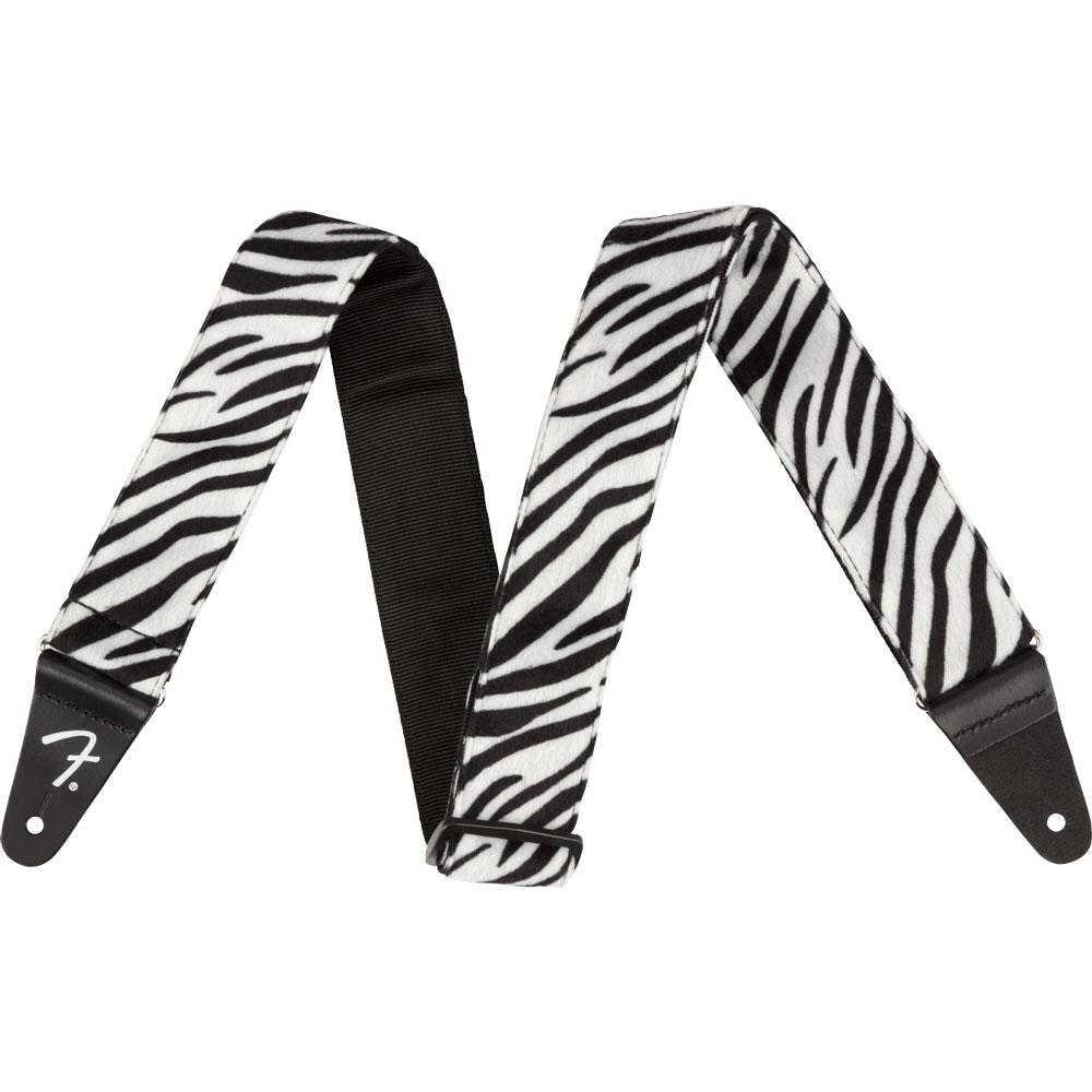 """Fender Wild Zebra Print Strap 2"""" ギターストラップ"""