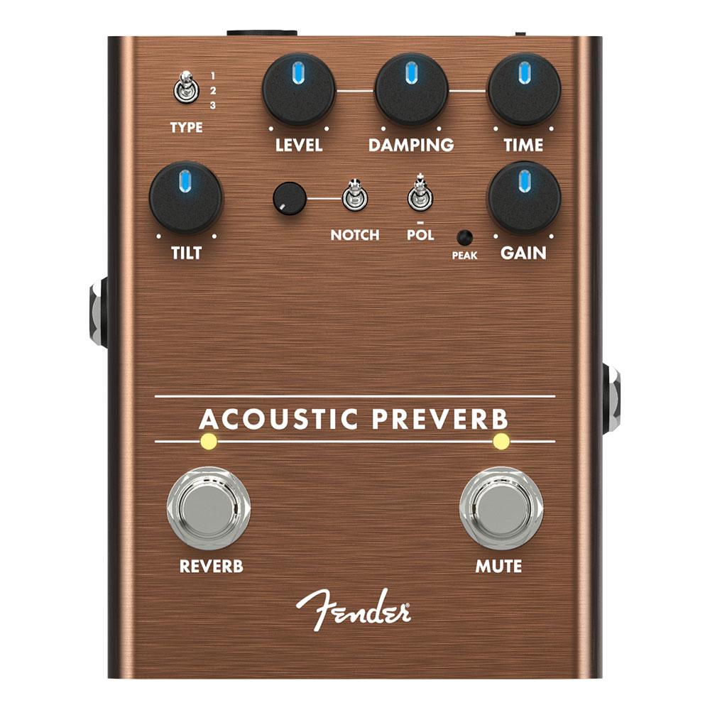 Fender Acoustic Preverb プリアンプ リバーブ ギターエフェクター