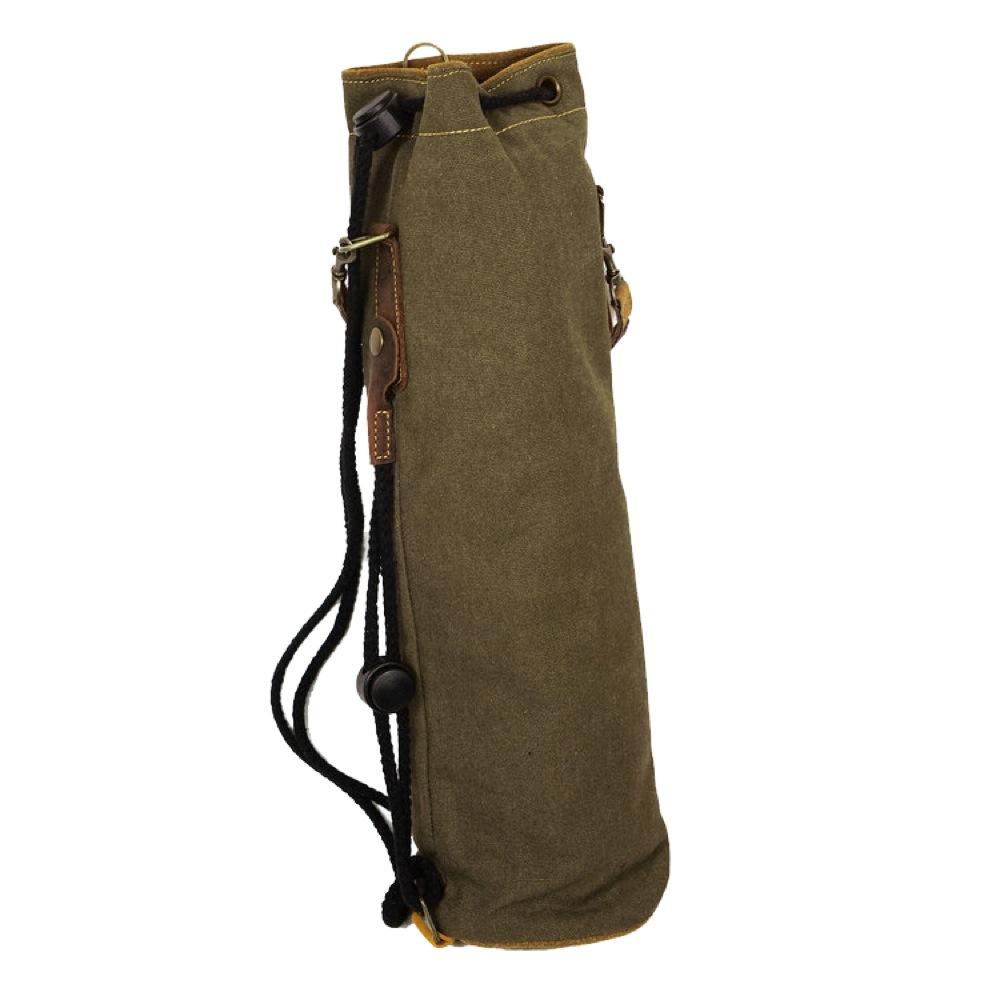PDH Leather Drum stick bag SW-DSB-415A Khaki レザー製 スティックケース キャンバスバッグ付き