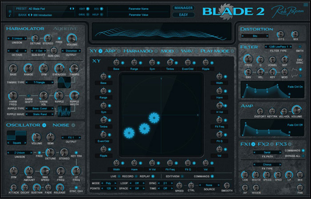 Rob Papen(ロブ・パペン) BLADE 2 ソフトウェアシンセサイザー ソフトウェア音源