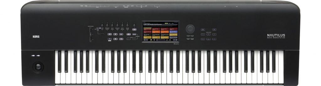 KORG NAUTILUS-73 73鍵盤 シンセサイザー正面画像
