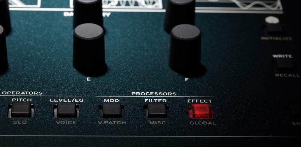 KORG opsix FMシンセサイザー エフェクターコントロール画像