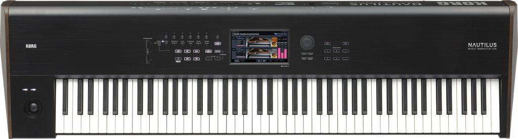 KORG NAUTILUS-88 88鍵盤 シンセサイザー正面画像