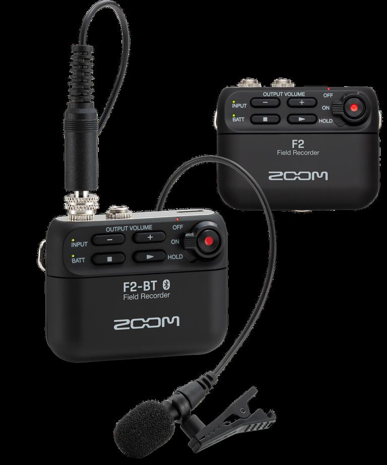 ZOOM 世界最小・最軽量の「F2」「F2-BT」フィールドレコーダーを発売