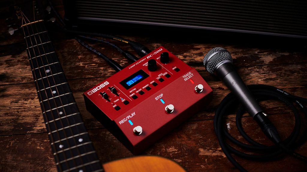 BOSS RC-500 LOOP STATION ボス ループステーション マイク アコースティックギター画像
