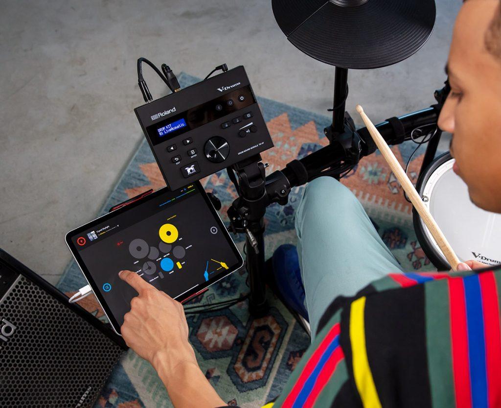Roland TD-07KV 電子ドラム ドラムキット 練習用アプリ Melodics for V-Drum使用イメージ画像
