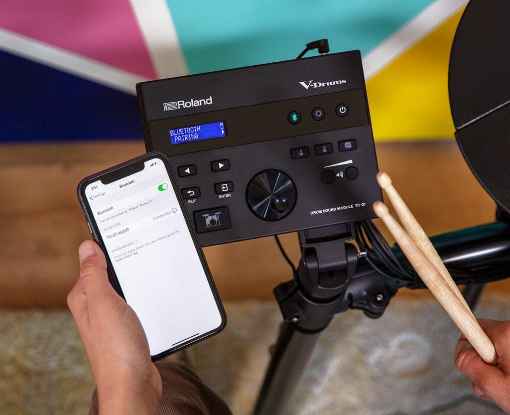 Roland TD-07KV 電子ドラム ドラムキット Bluetooth接続イメージ画像
