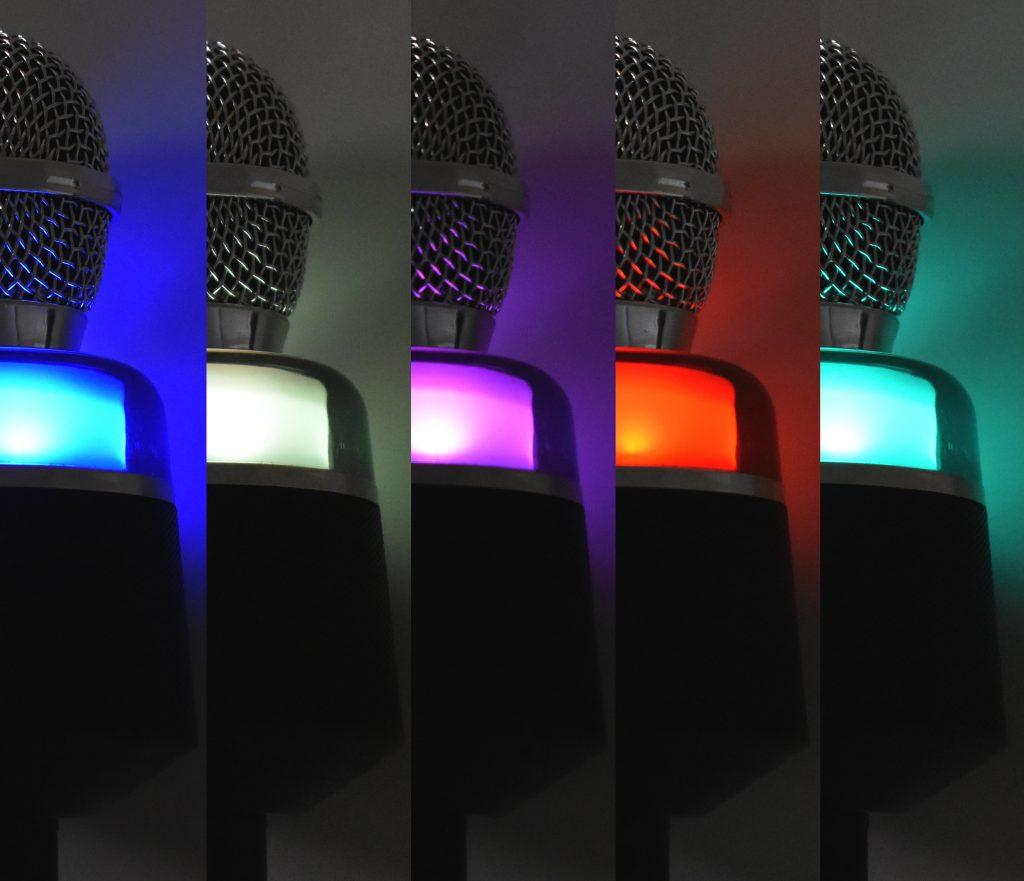 カラオケマイク CM-KA100BT LED発色の画像