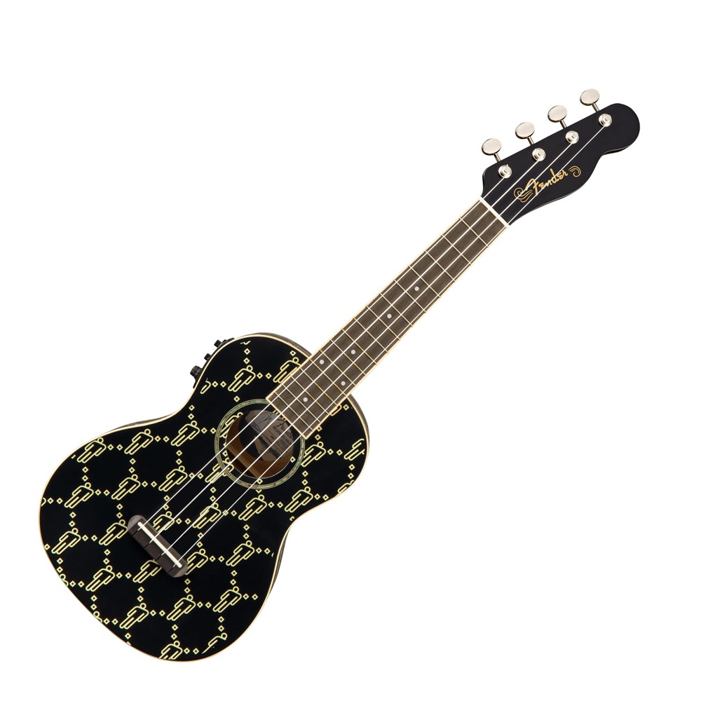 Fender Billie Eilish Uke Walnut Fingerboard Black エレクトリック ウクレレ