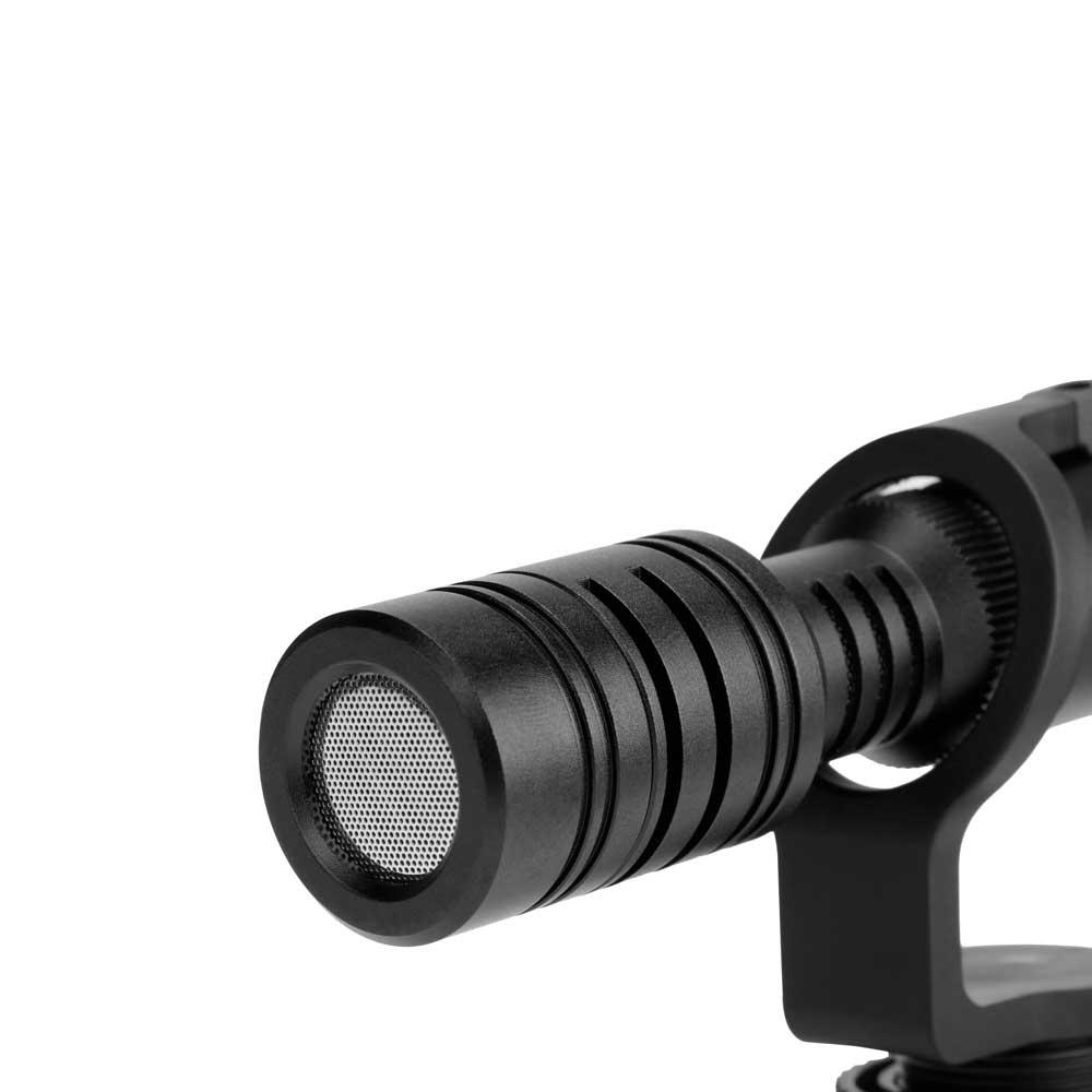 Saramonic Vmic Mini デジタル一眼レフ ビデオカメラ スマートフォン用 コンデンサーマイク マイク部アップ画像