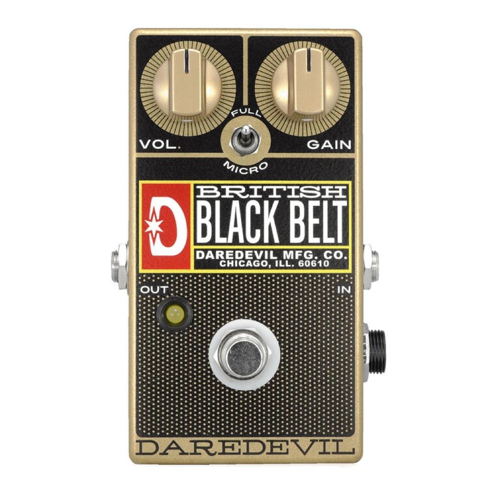Daredevil Pedals British Black Belt Gold オーバードライブ ディストーション ギターエフェクター