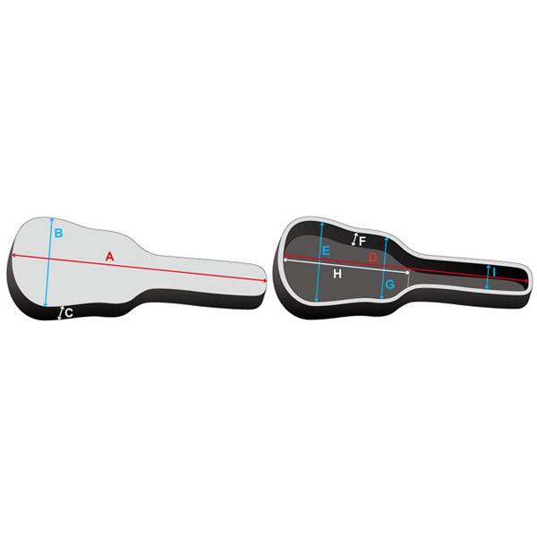 IBANEZ IAB924R-BK アコースティックギター用ギグバッグ サイズ画像