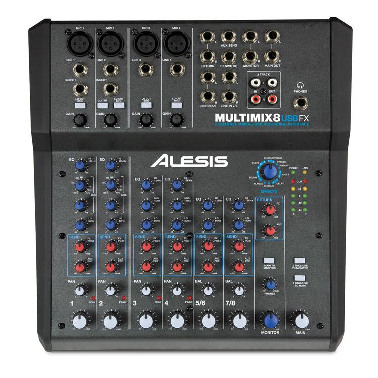 ALESIS MULTIMIX8 USB FX 正面 画像