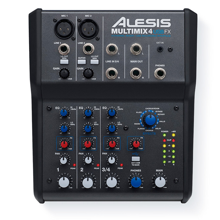 ALESIS MULTIMIX4 USB FX 正面画像