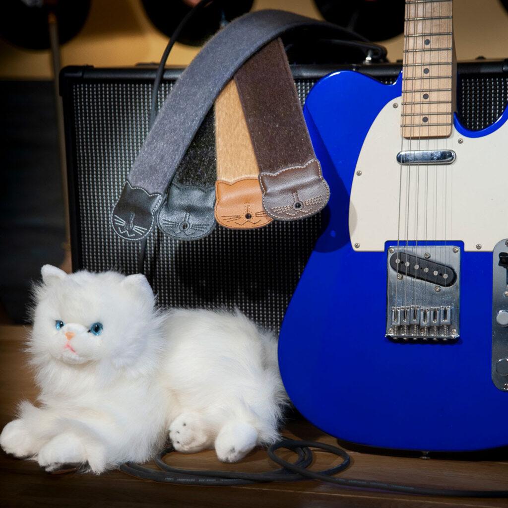 RightOn! STRAPS MOFUNEKO もふネコ ギターストラップ