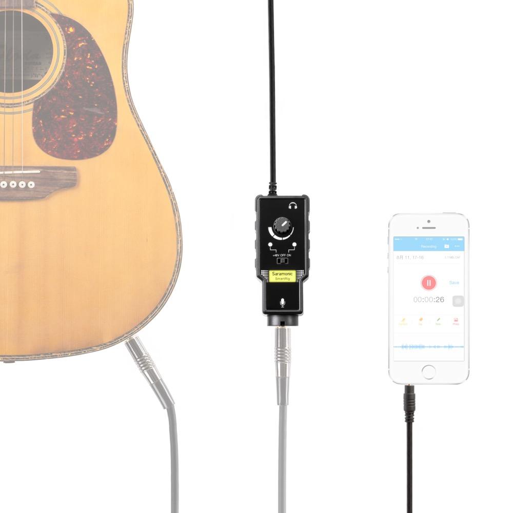Saramonic SmartRig II スマートフォン用 オーディオインターフェース 接続 使用例