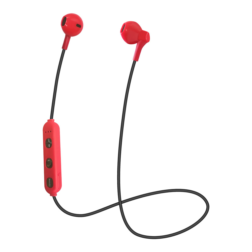 たのしいかいしゃ Bluetoothワイヤレスイヤホン インナーイヤー型 レッド TA-BT3 RD