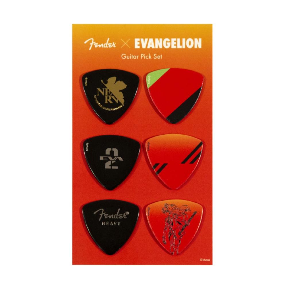 Fender Evangelion ASUKA Pick Set エヴァンゲリオン アスカ ギターピック 6枚セット
