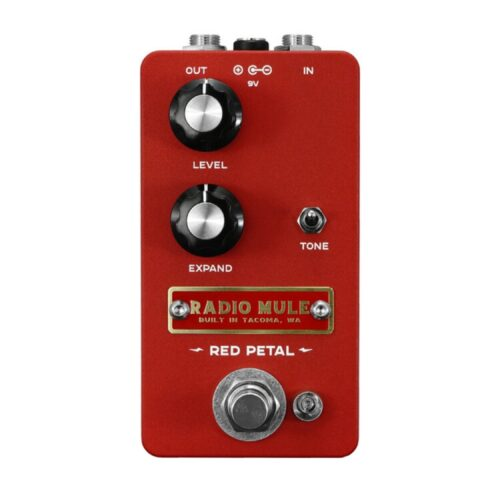 Radio Muleから重厚サウンドのオペアンプファズペダル「RED PETAL BURNT RED」が登場