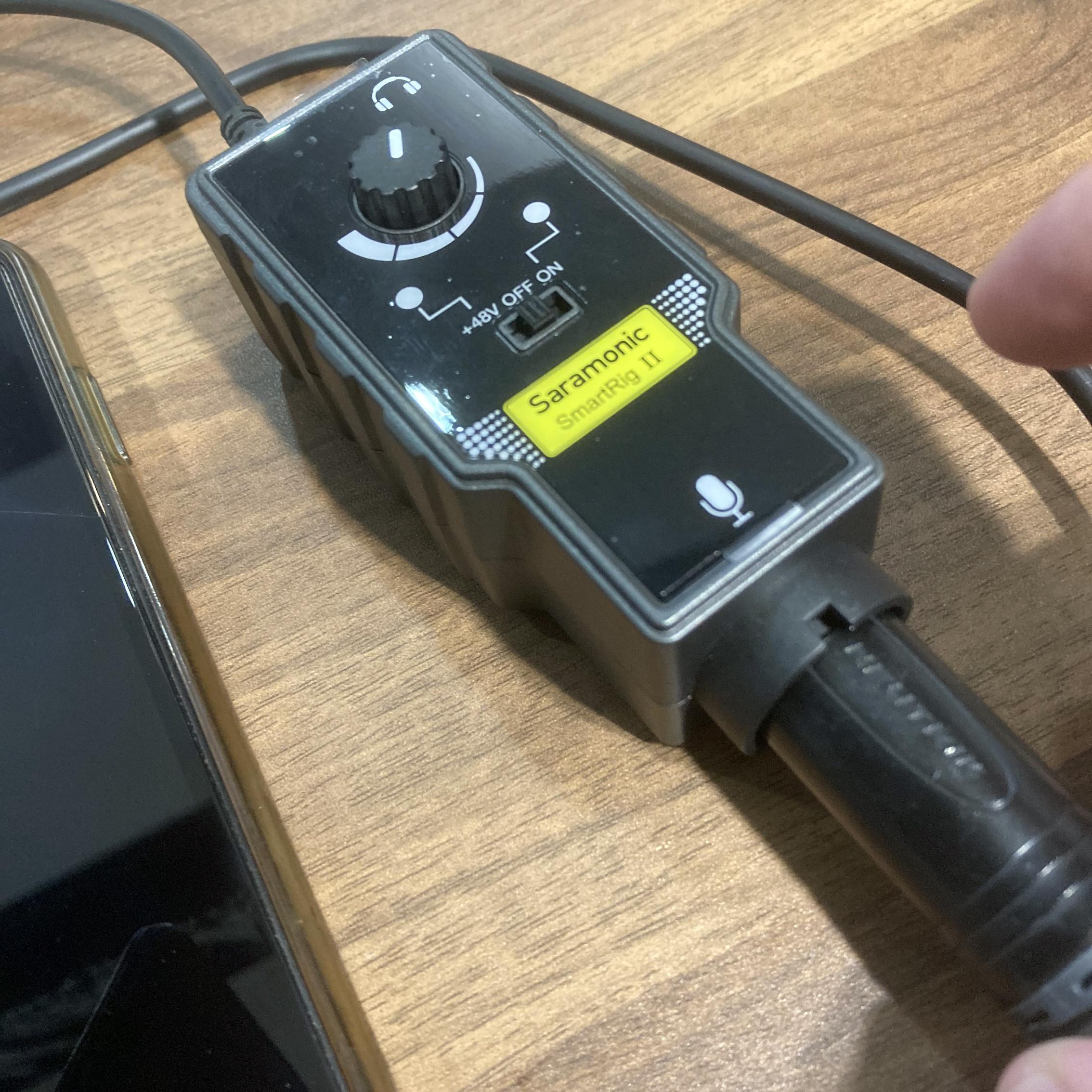 Saramonic SmartRig II Pokekara 使ってみた検証 接続イメージ