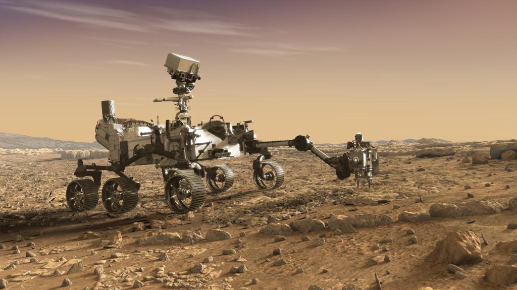 NASAの火星探査機マーズ2002のイメージ画像