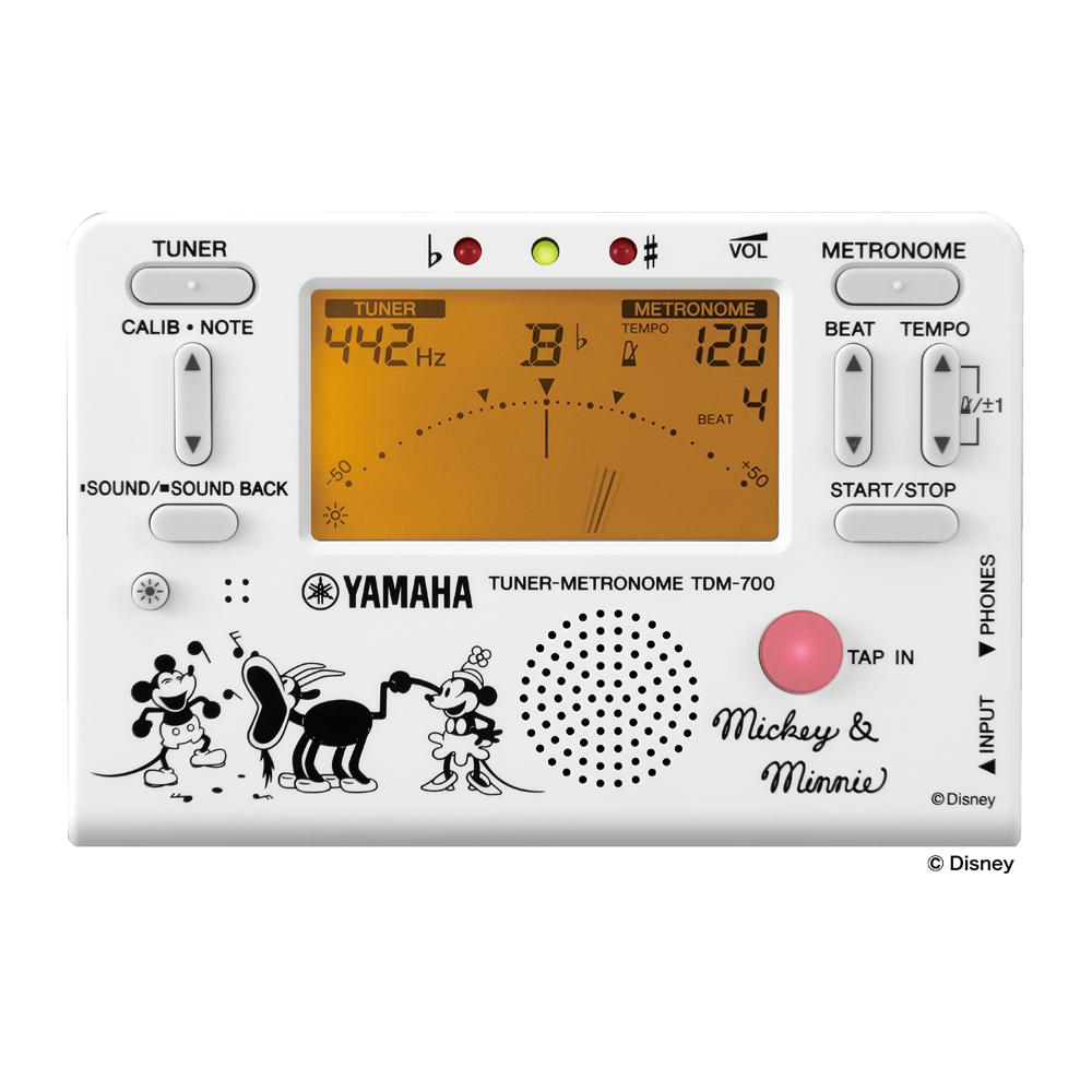YAMAHA TDM-700DMN5 ディズニー ミッキー&ミニー チューナー メトロノーム 正面画像
