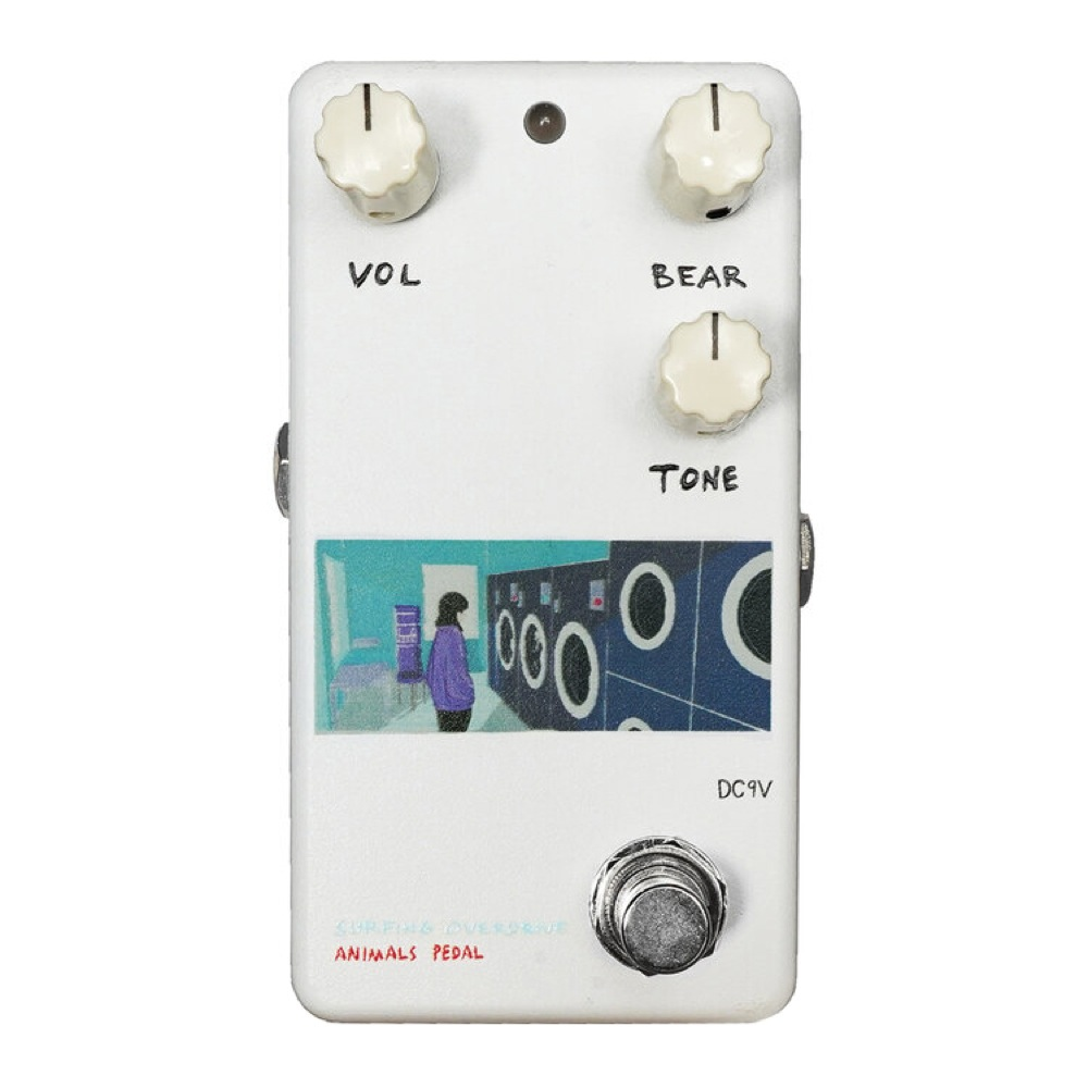 Animals Pedal Custom Illustrated 003 Surfing Bear Overdrive by 文 Laundry オーバードライブ ギターエフェクター