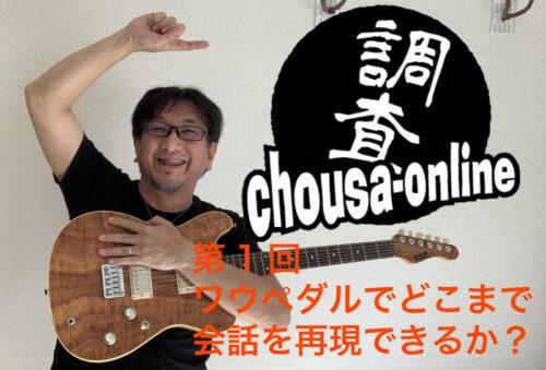 井戸沼尚也の「ゆるゆるchousa-online」vol.1〜ワウでどこまで会話を再現できるか?