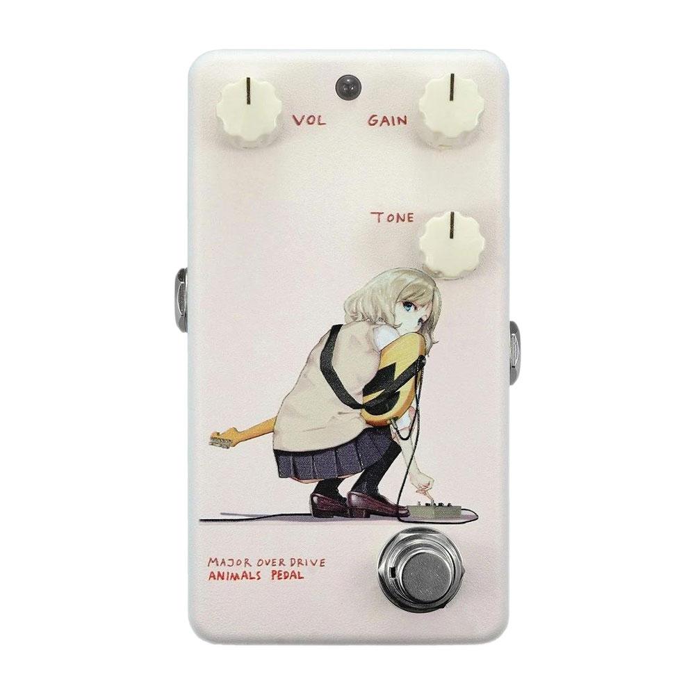 "Animals Pedal Custom Illustrated 014 Major Overdrive by あしやひろ ""Alice"" Faint Pink オーバードライブ ギターエフェクター"