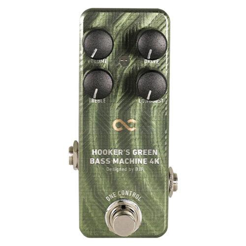 人気のベースオーバードライブ「Hooker's Green Bass Machine」にローブーストを追加した「Hooker's Green Bass Machine 4K」が発売開始