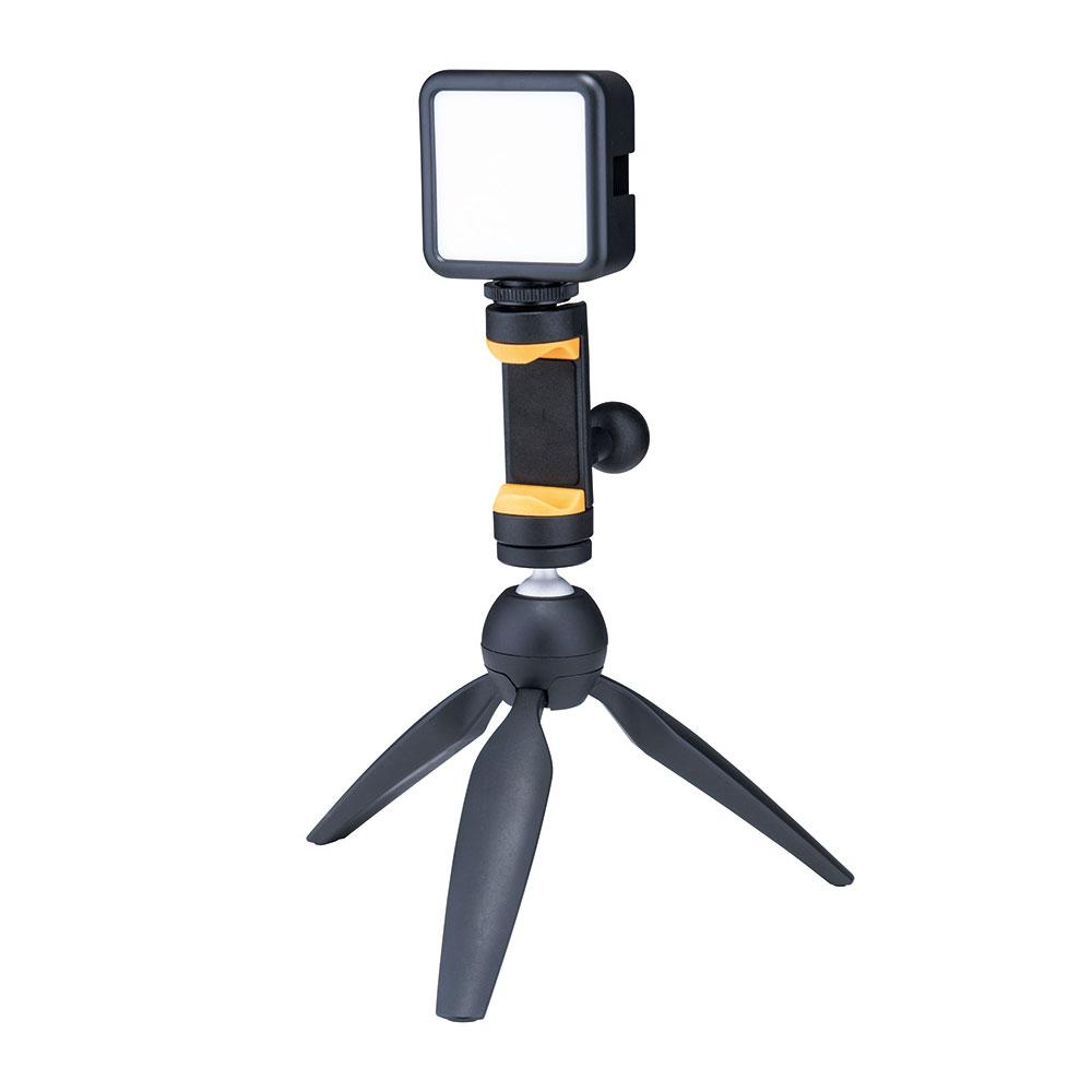 HERCULES DG207B Smartphone Holder スマートフォンホルダー 三脚・ライト取り付け例