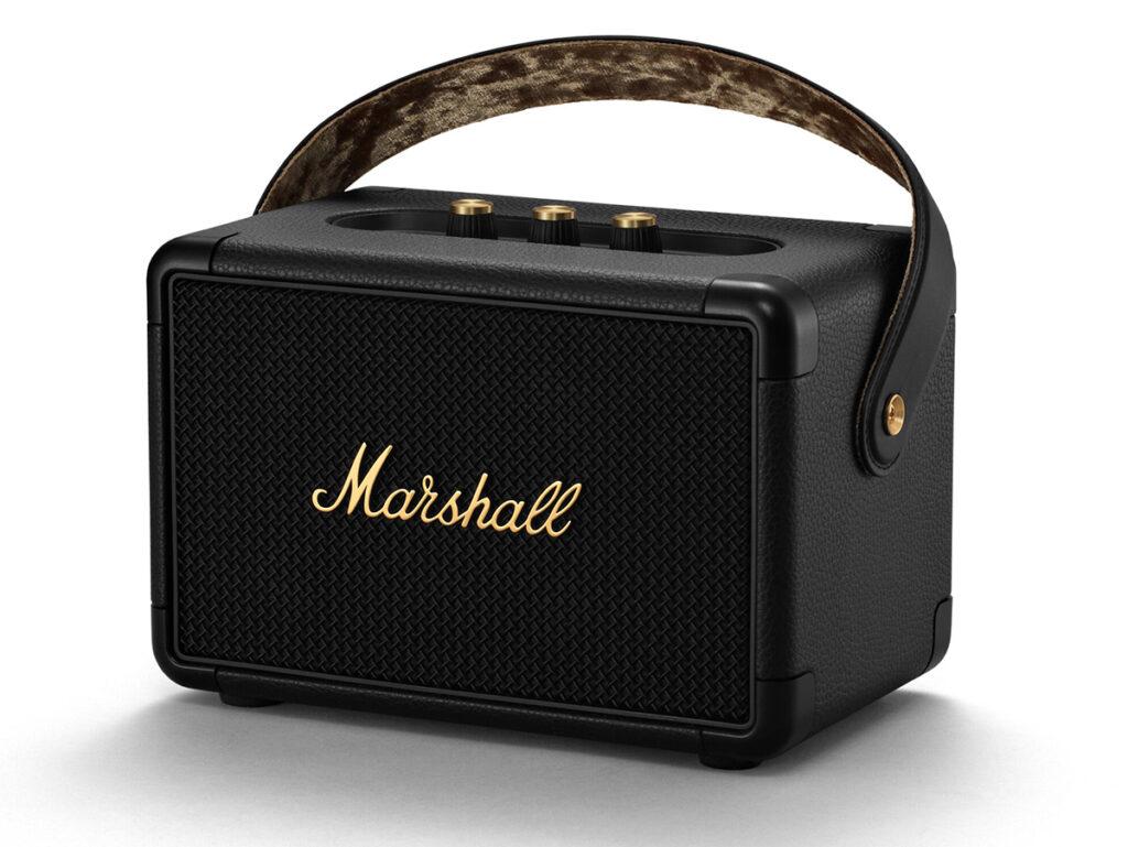 MARSHALL KILBURN Ⅱ Black and Brass ワイヤレススピーカー 全体画像