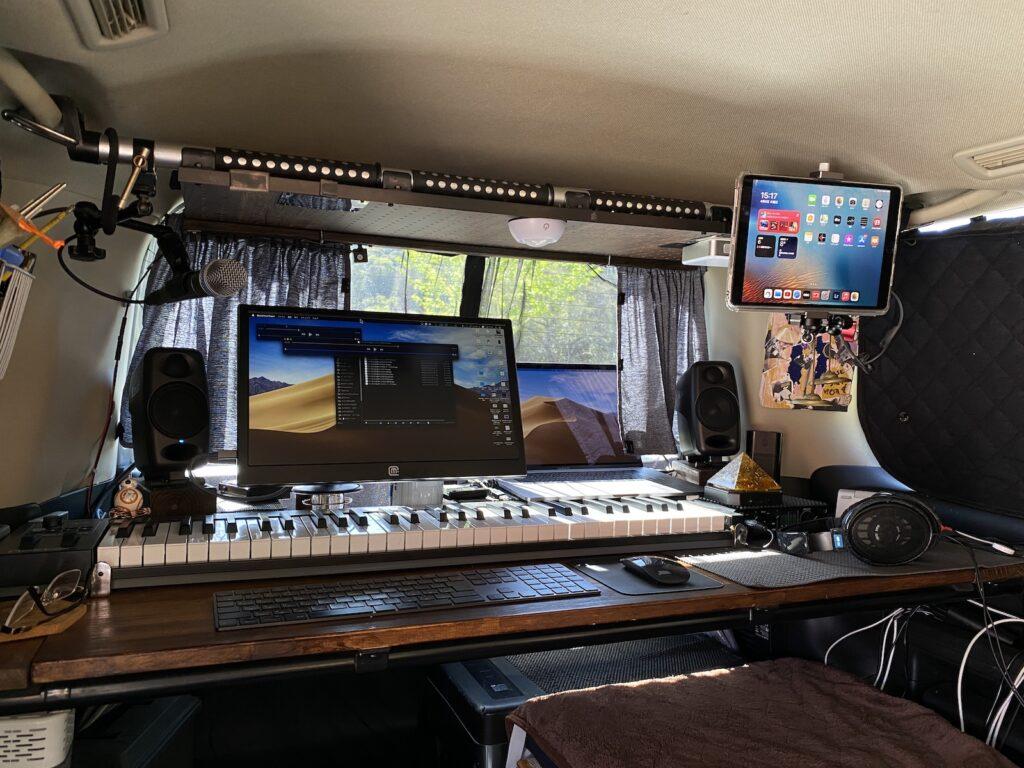 車内レコーディングスタジオ