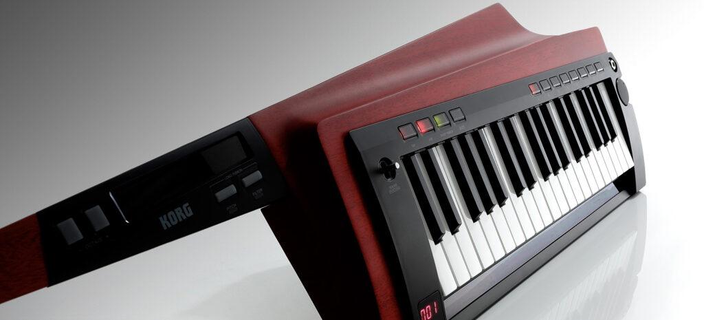 KORG ショルダーキーボード KEATAR RK-100S 2 グリップ部と鍵盤部の2基の リボンコントローラーの画像
