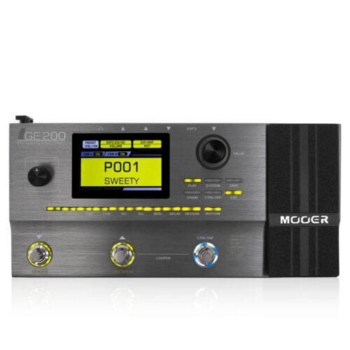 人気のマルチエフェクター「Mooer GE200」収録のアンプモデル、エフェクトを一覧にまとめてみた。