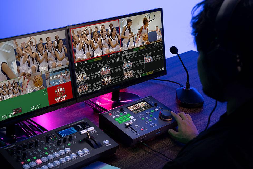 ROLAND P-20HD使用イメージ画像 少人数でのオペレーションに対応