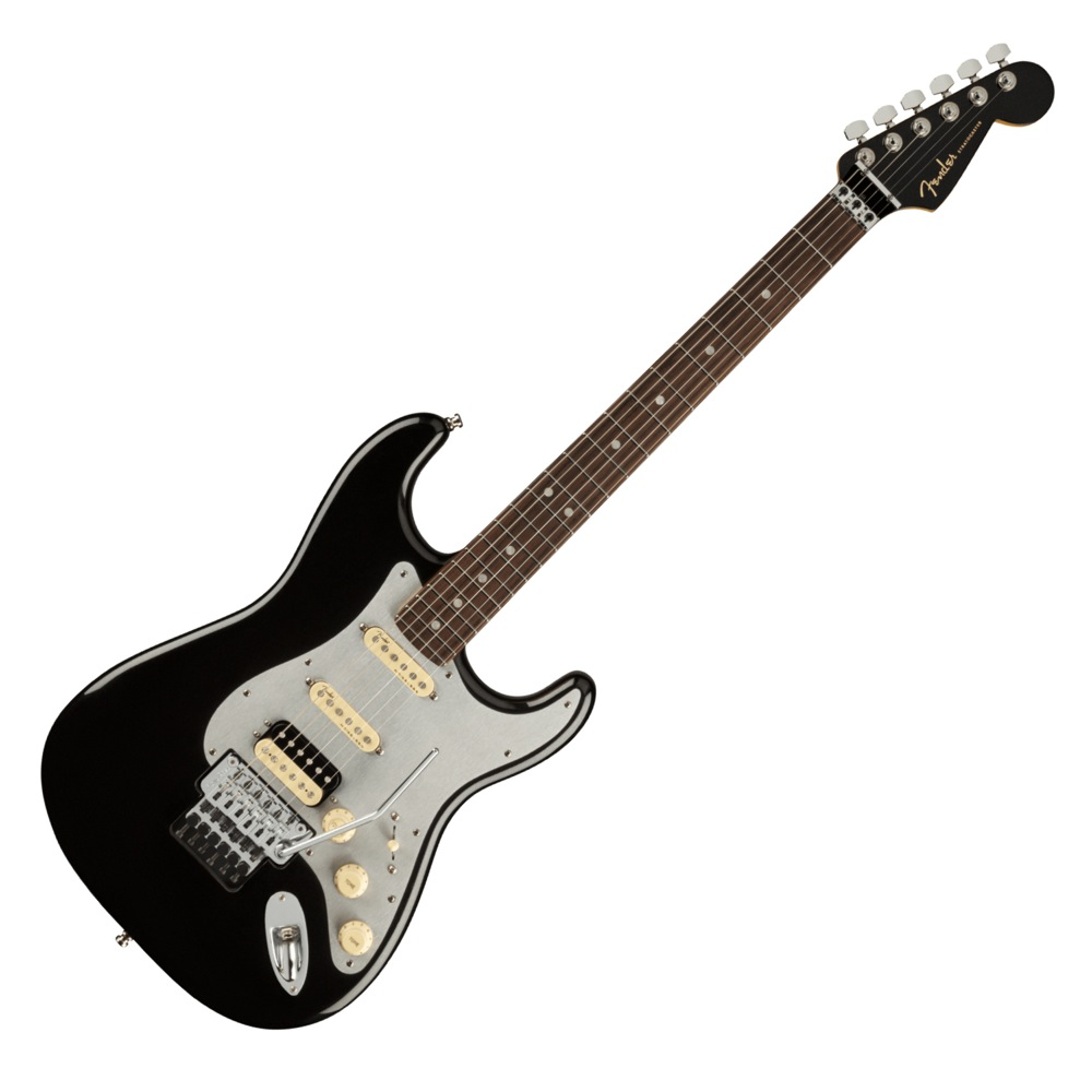 Fender American Ultra Luxe Stratocaster Floyd Rose HSS RW MBK エレキギター