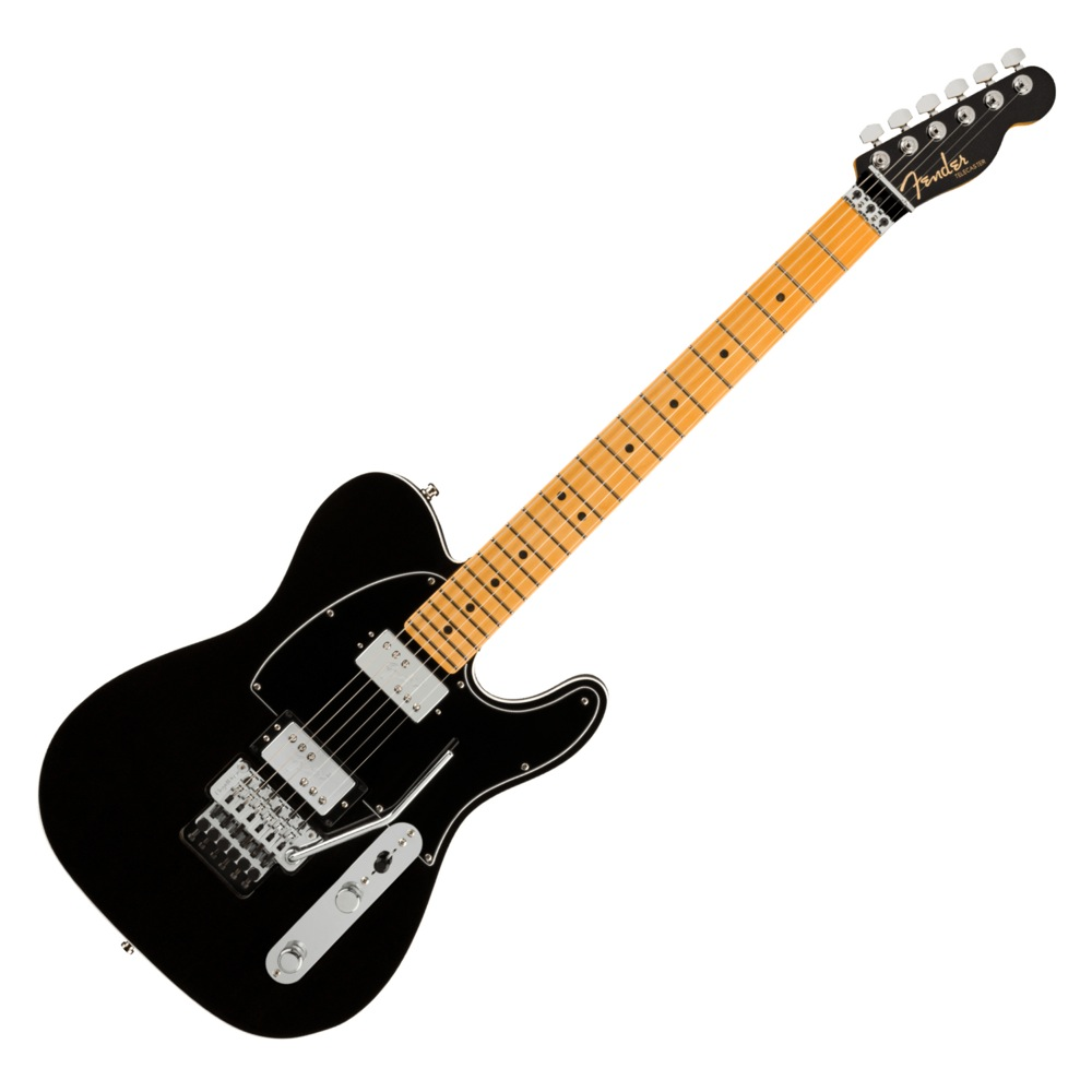 Fender American Ultra Luxe Telecaster Floyd Rose HH MN MBK エレキギター