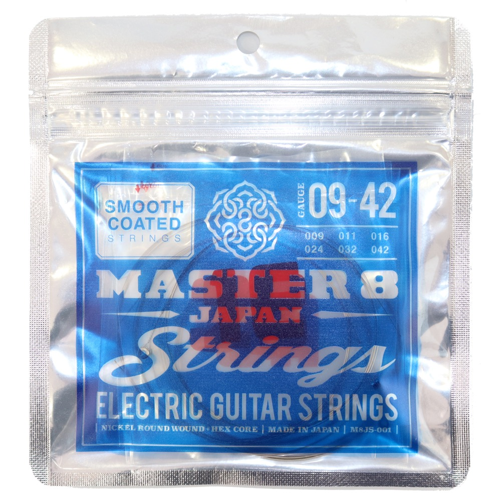 MASTER 8 JAPAN Strings Smooth Coated Strings 09-42 エレキギター弦