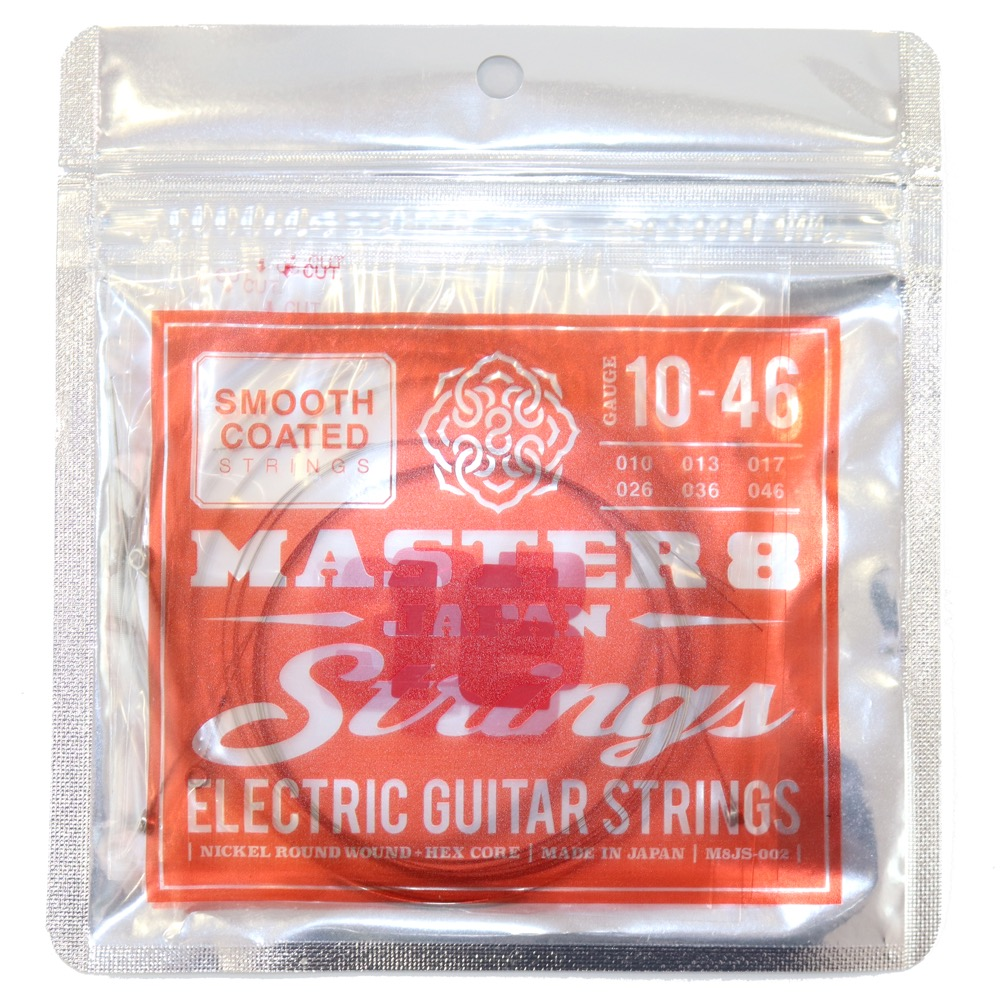 MASTER 8 JAPAN Strings Smooth Coated Strings 10-46 エレキギター弦