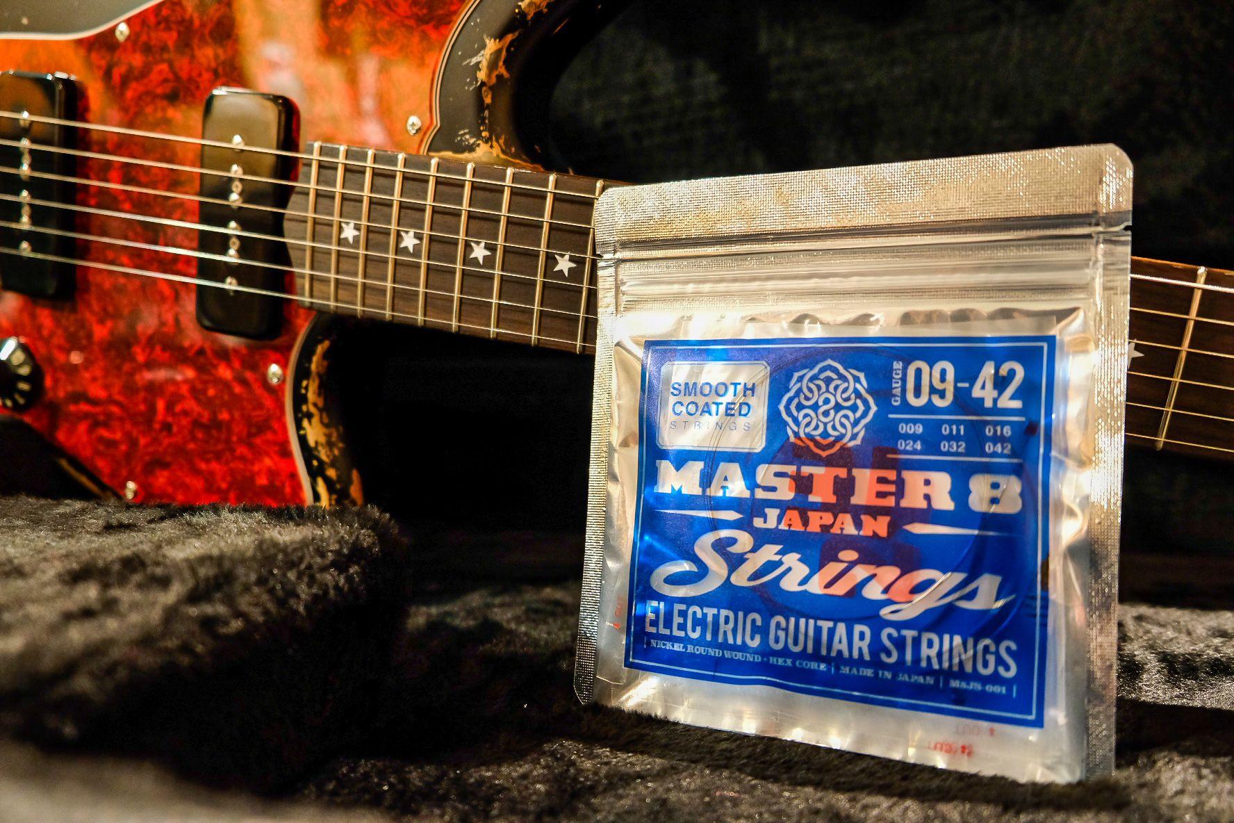 MASTER8から日本製エレキギターコーティング弦が発売開始!