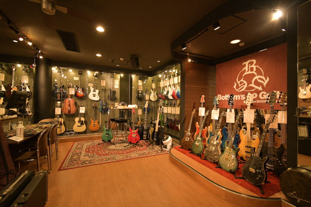 ボトムズアップギターズ福岡サンパレス店の内観