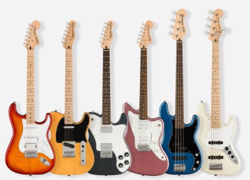 Squier(スクワイア)から11モデル28種類のニューモデルギターベースが発売開始
