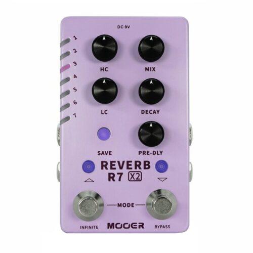 Mooerから定番リバーブ「A7」と「R7」を合体させた究極リバーブ「R7 X2 REVERB」が発売開始