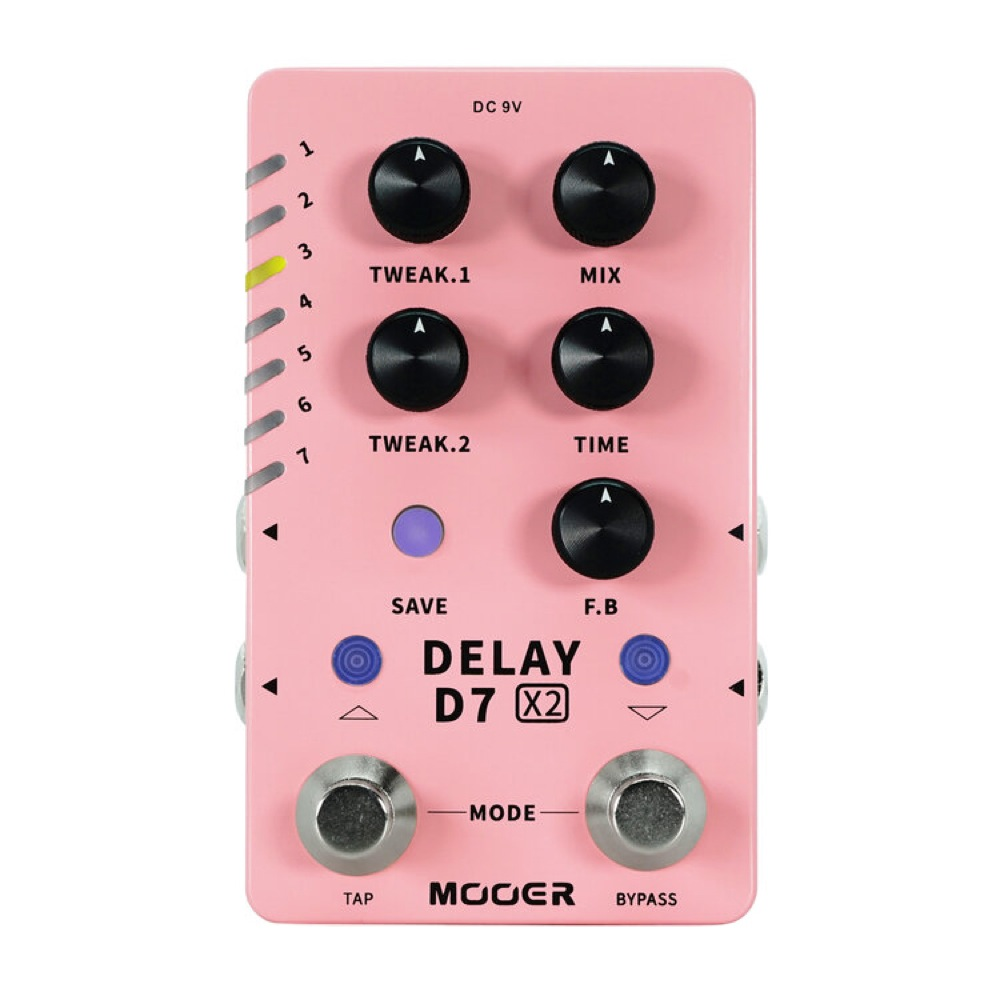 Mooer D7 X2 DELAY ディレイ ギターエフェクター