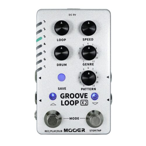 Mooerよりルーパーとドラムマシンを合体させた「 GROOVE LOOP X2」が発売開始