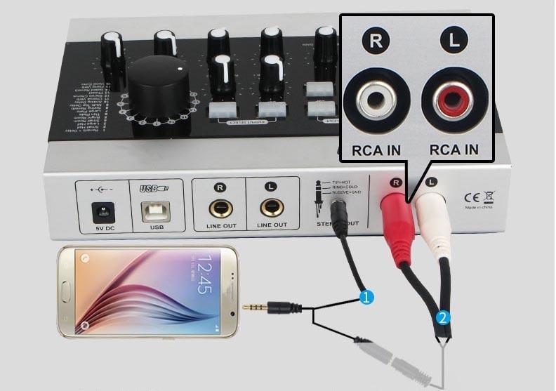 KIKUTANI Newmal X USB オーディオインターフェイス スマートフォン接続例
